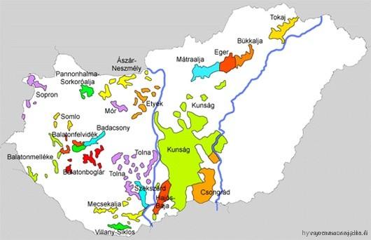 Unkarin viinialueet
